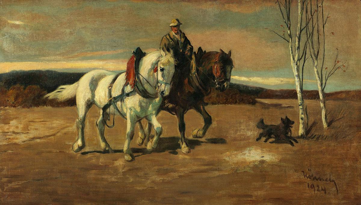 Willhelm-Hoehnel_Pferde-mit-Bauer-und-Hund_web