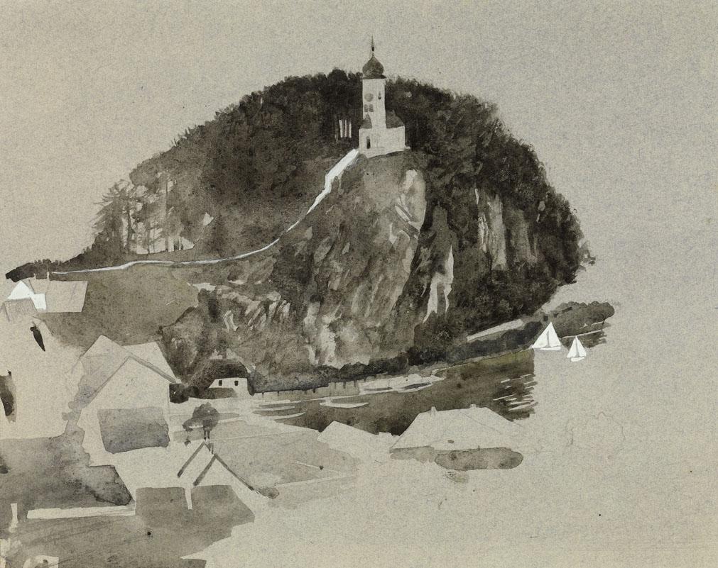 C Brosch Traunkirchen mit Johannesberg Kapelle